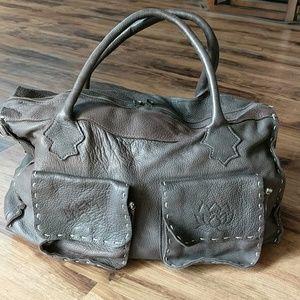 EUC Tylie Malibu Large Pebbled Leather Satchel